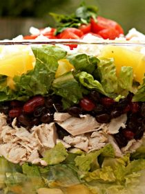 Chicken Pineapple Cilantro Layered Salad