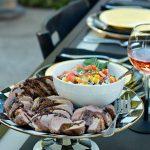 Blue Cheese Bruschetta Balsamic-Glazed Pork Tenderloins