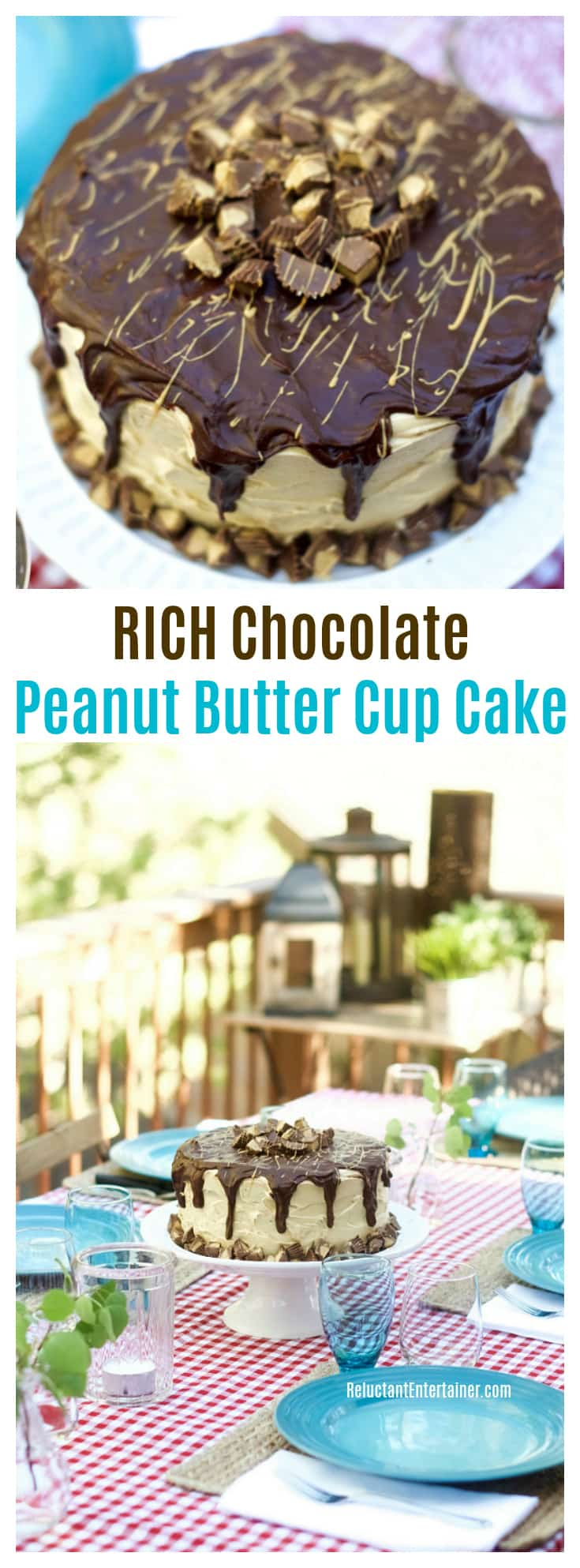 RICH Chocolate Peanut Butter Cup Cake Recipe