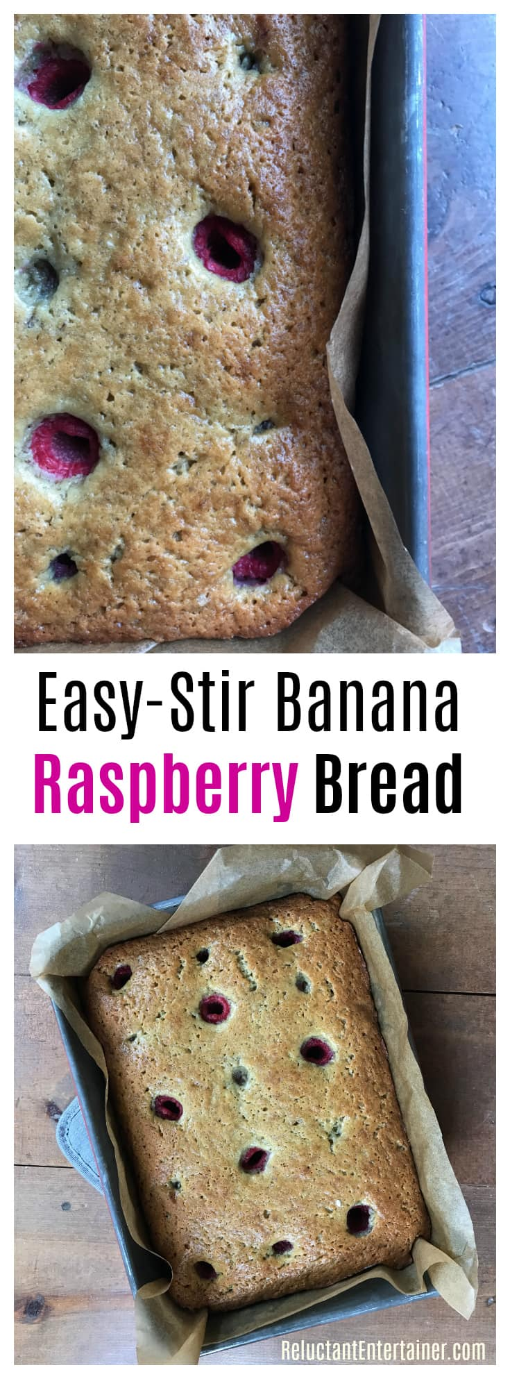 Easy-Stir Banana Raspberry Bread Recipe