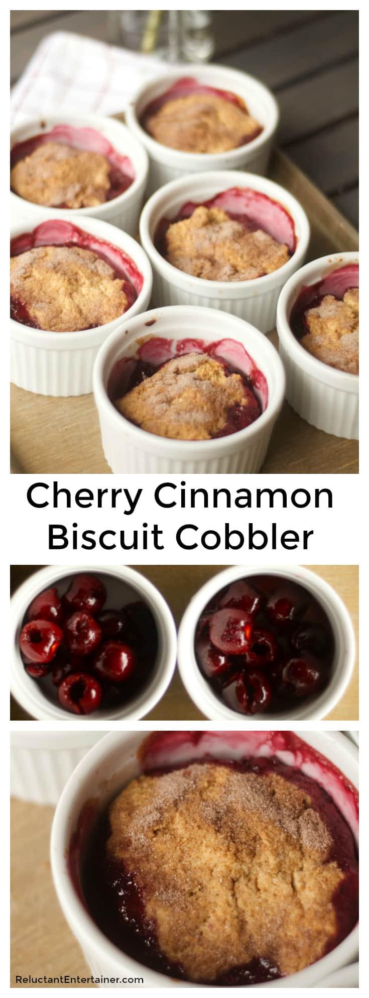Cherry Cinnamon-Biscuit Cobbler Recipe
