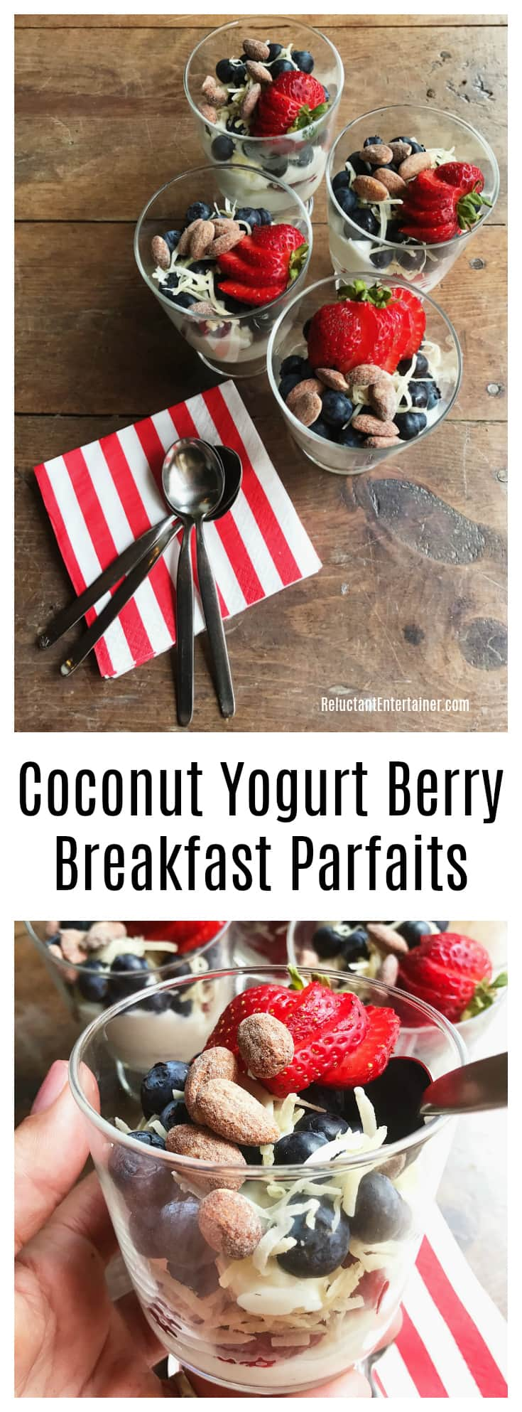 Coconut Yogurt Berry Breakfast Parfaits