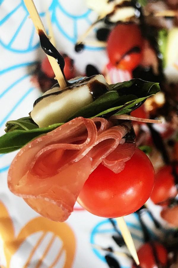 Prosciutto Caprese Kebabs Appetizer