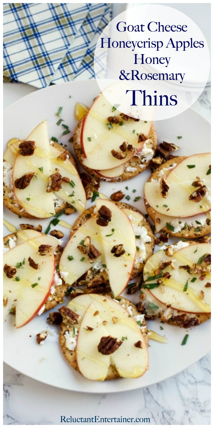 Goat Cheese, HoneyCrisp Apples Rosemary Thins