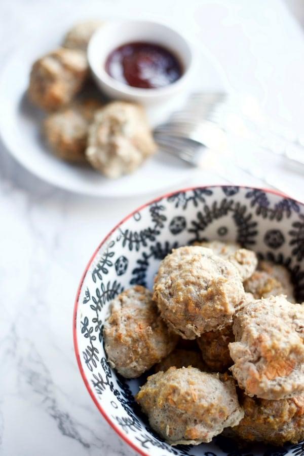 4 Ingredient Turkey Sweet Potato Meatballs