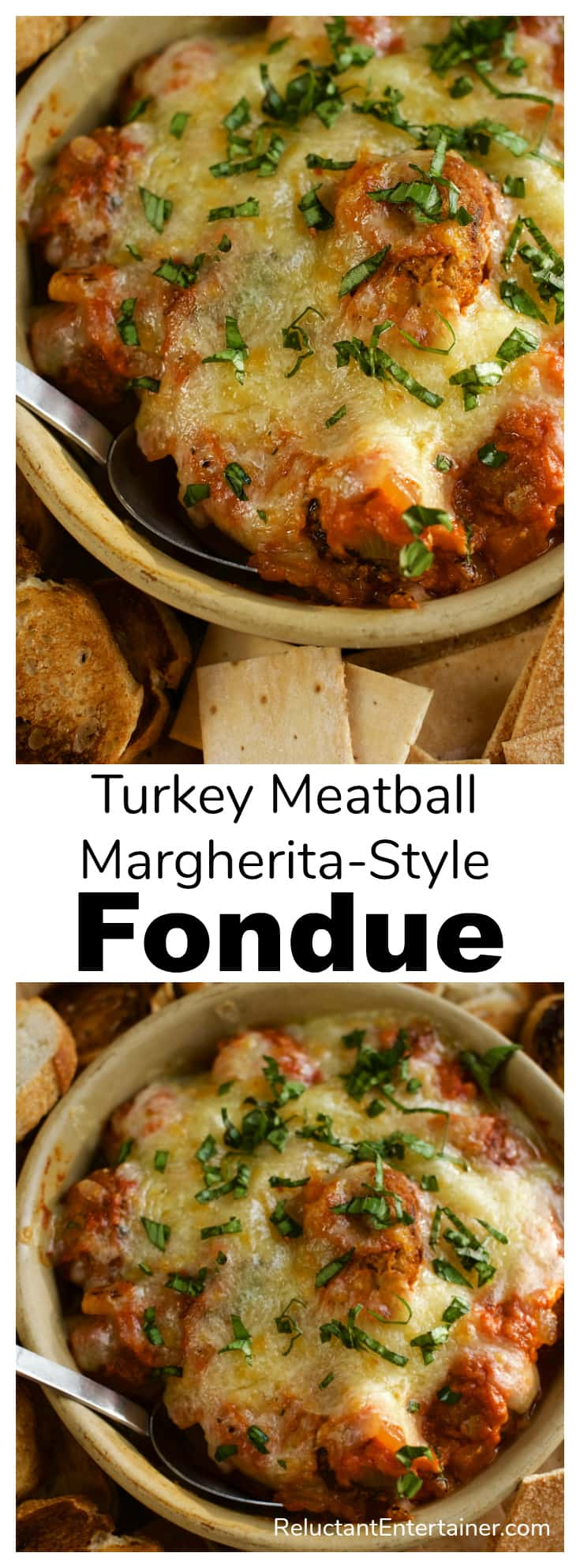 Turkey Meatball Margherita-Style Fondue Recipe