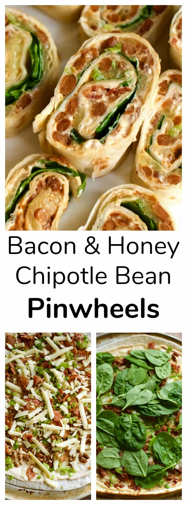 Bacon & Honey Chipotle Bean Pinwheels Recipe in partnership with Bush's Beans