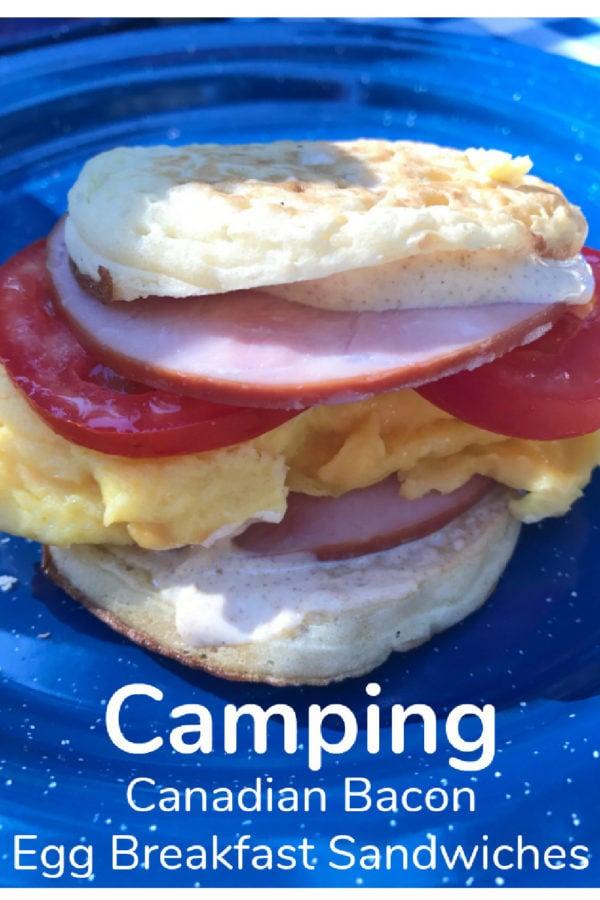 egg camping breakfast sandwich