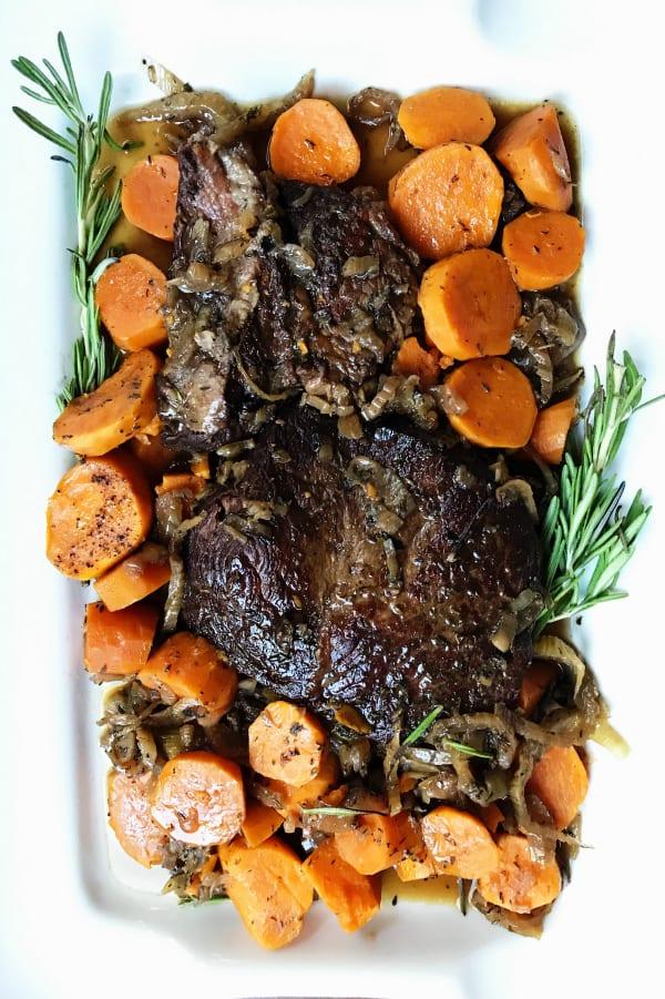 Best Slow Cooker Sweet Potato Roast Beef Dinner