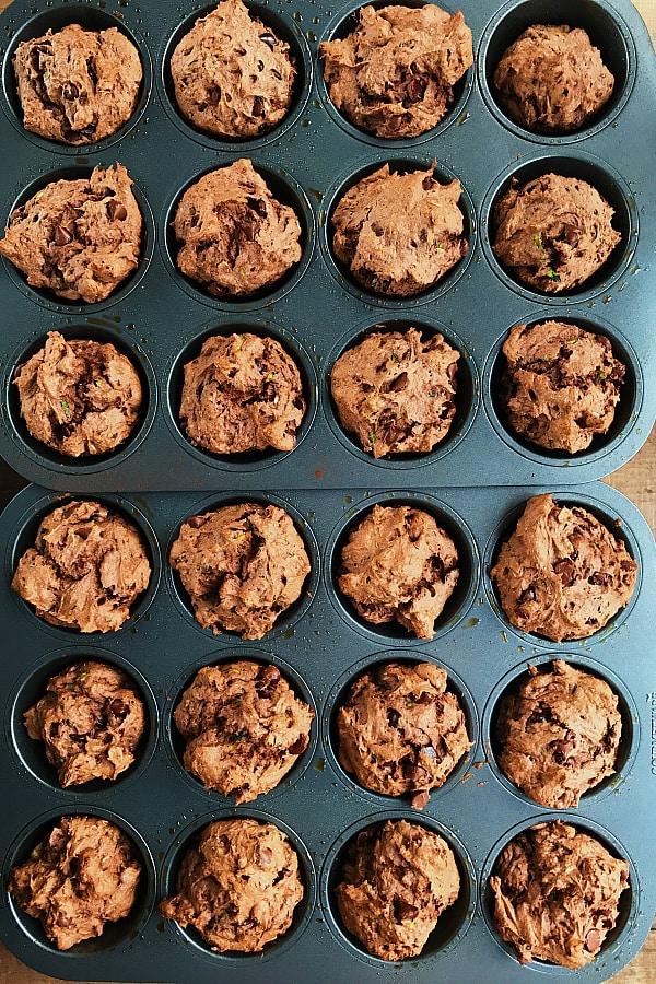 Chocolate Zucchini Muffins Recipe