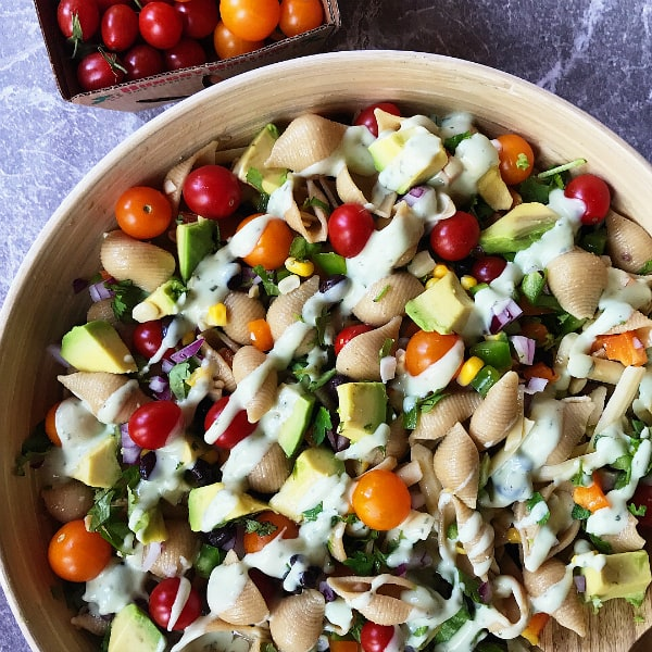 The BEST Mexican Pasta Shells Salad Recipe