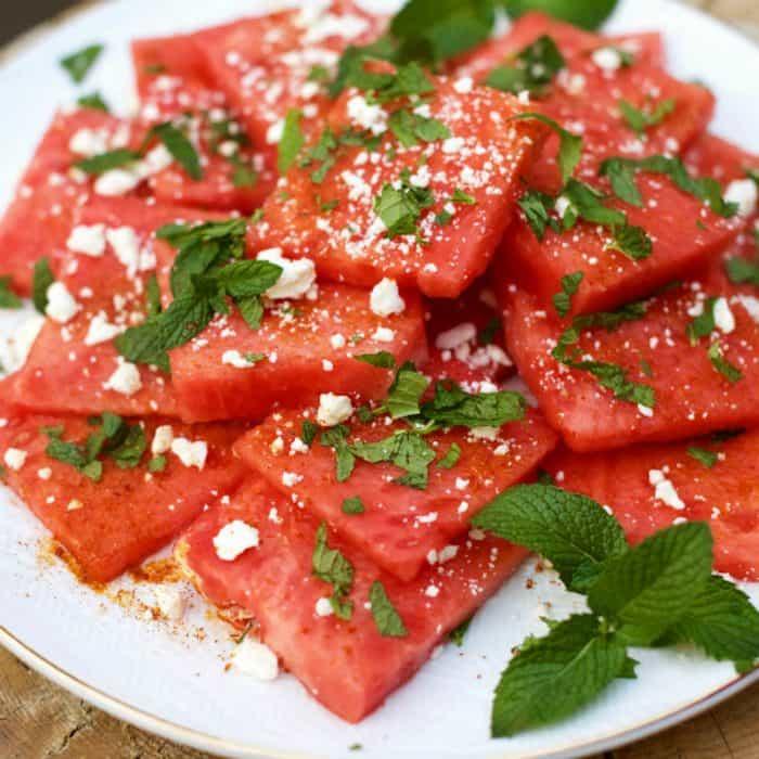 Watermelon Chile Lime Feta Salad
