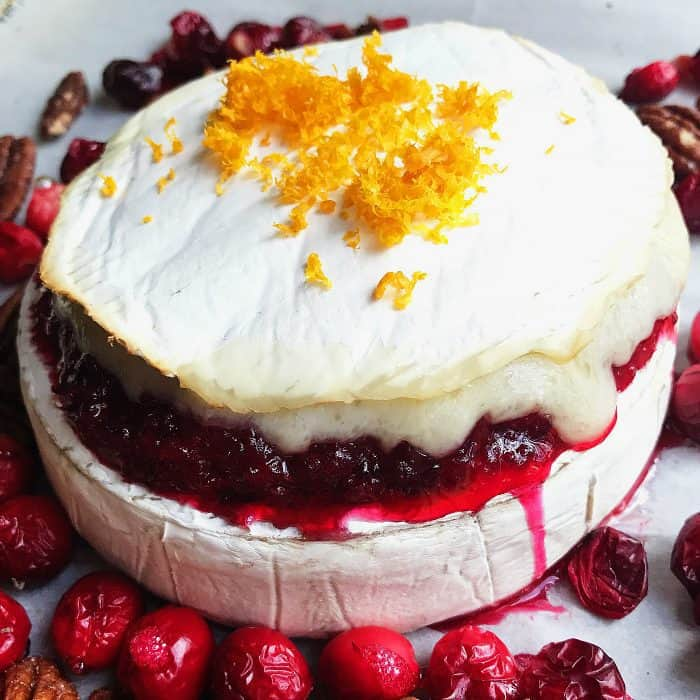 Cranberry Orange Relish Brie Cheese Appetizer