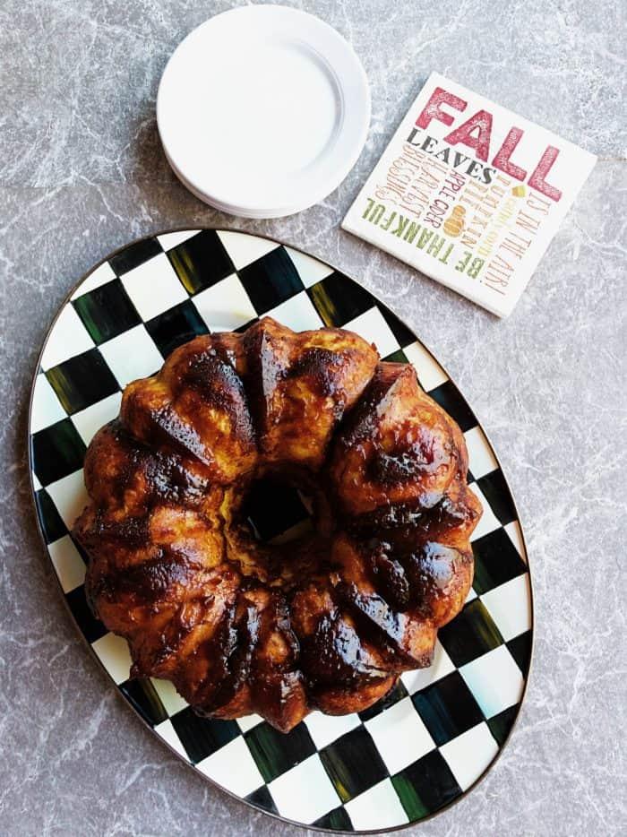 FALL Holiday Pumpkin Monkey Bread
