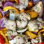 Pesto Chicken Thighs Sheet Pan Dinner