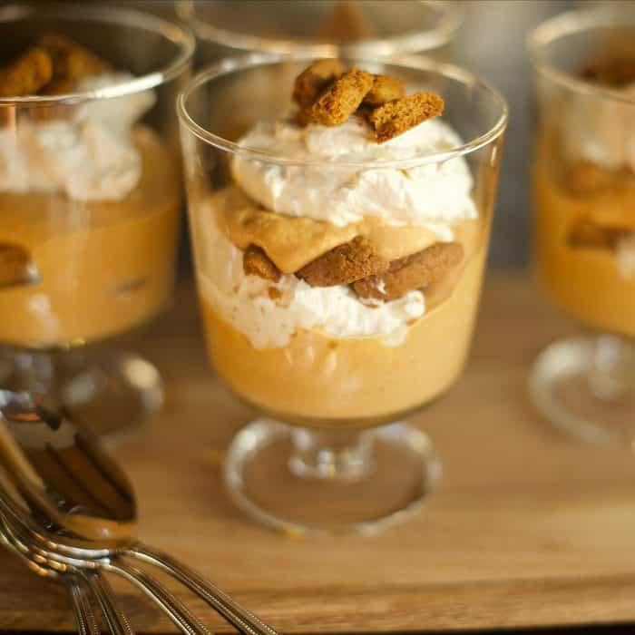 Pumpkin Gingersnap Crunch Parfaits Recipe