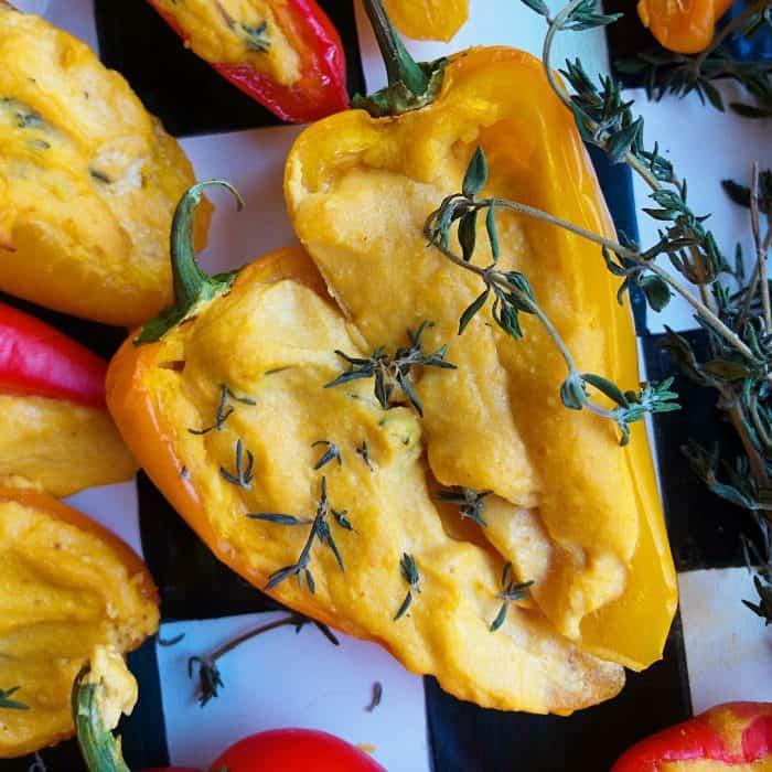 Roasted Pumpkin Mini Sweet Peppers Appetizer