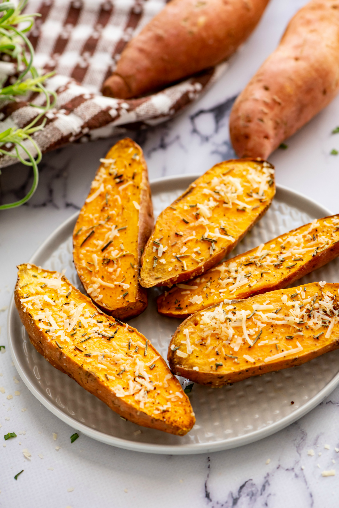 Easy Side Dish Roasted Sweet Potatoes With Rosemary Recipe