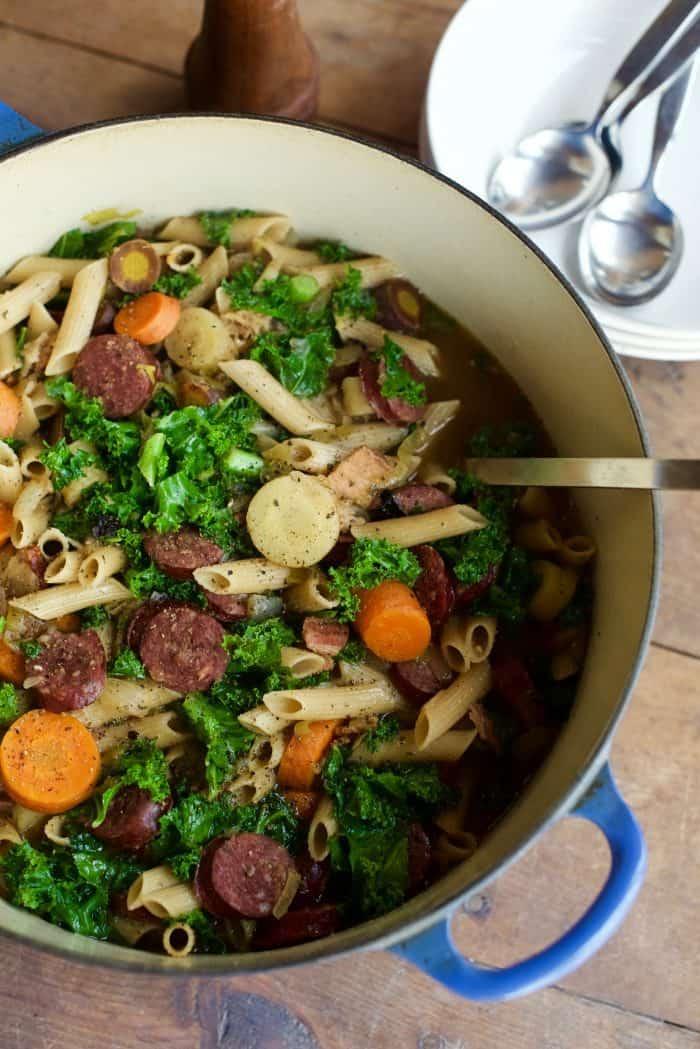 Sausage Kale Comfort Soup