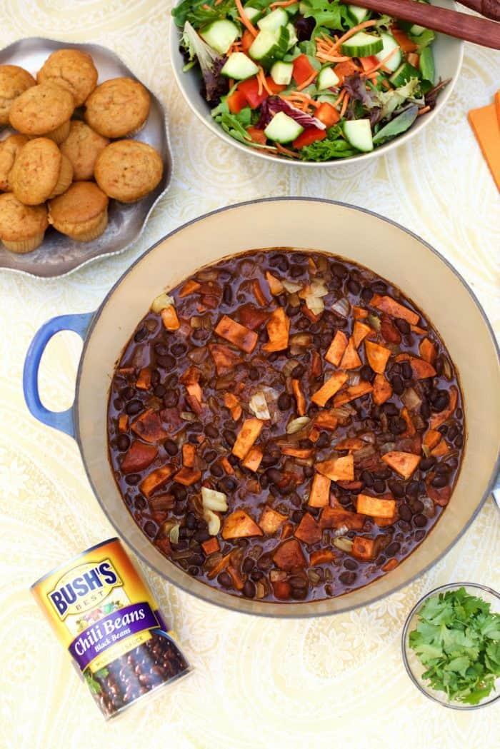 Vegetarian Sweet Potato Black Bean Chili