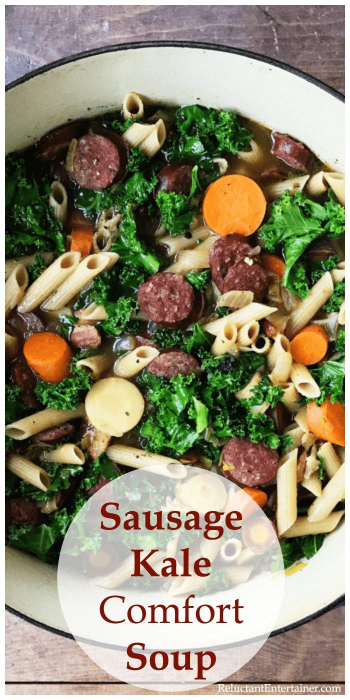 Easy Sausage Kale Comfort Soup