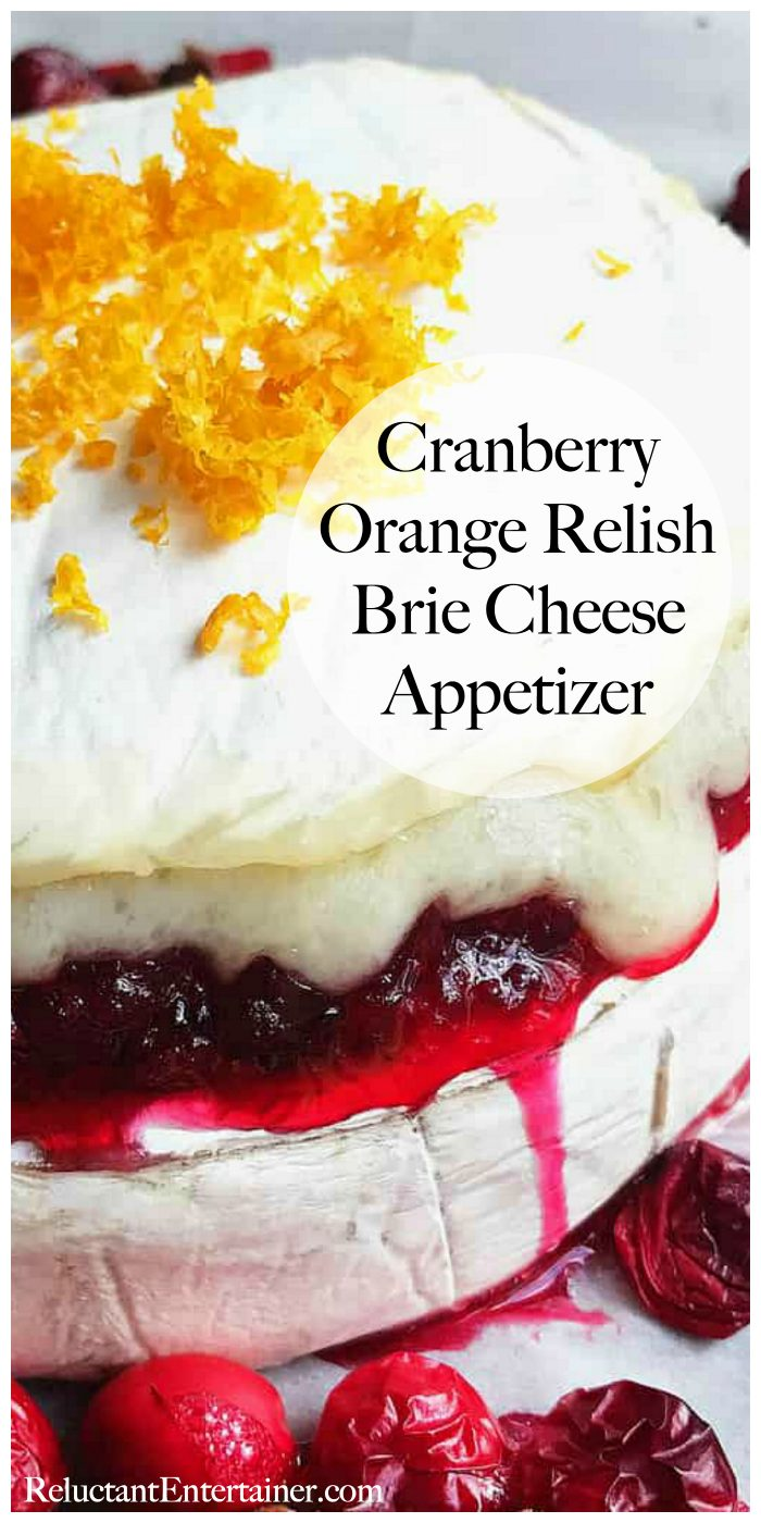 Cranberry Orange Relish Brie Cheese Appetizer Recipes