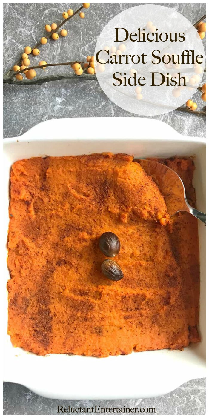 Delicious Carrot Souffle Side Dish