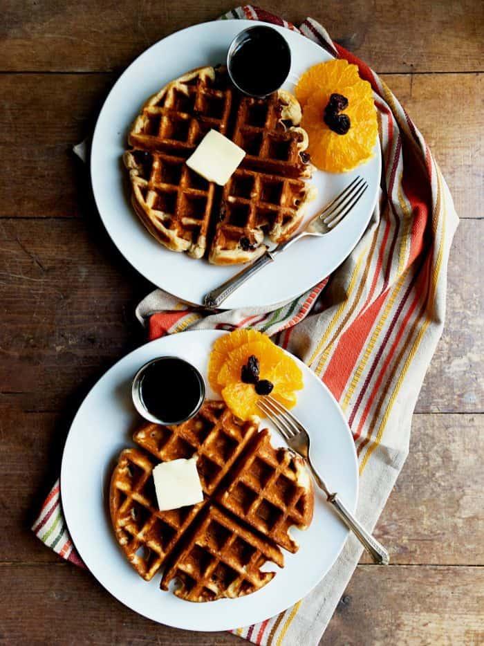 Orange Cherry Buttermilk Waffle Recipe