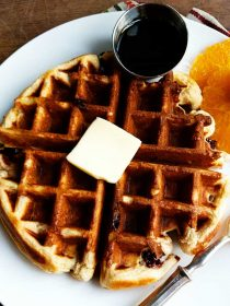 Orange Cherry Buttermilk Waffle Recipe