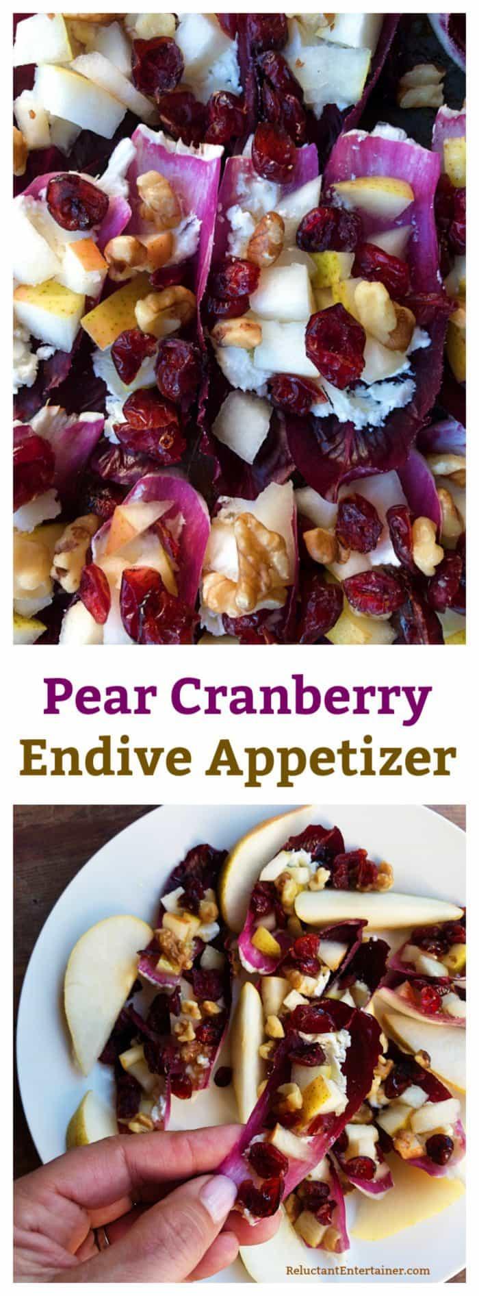 Pear Cranberry Endive Appetizer