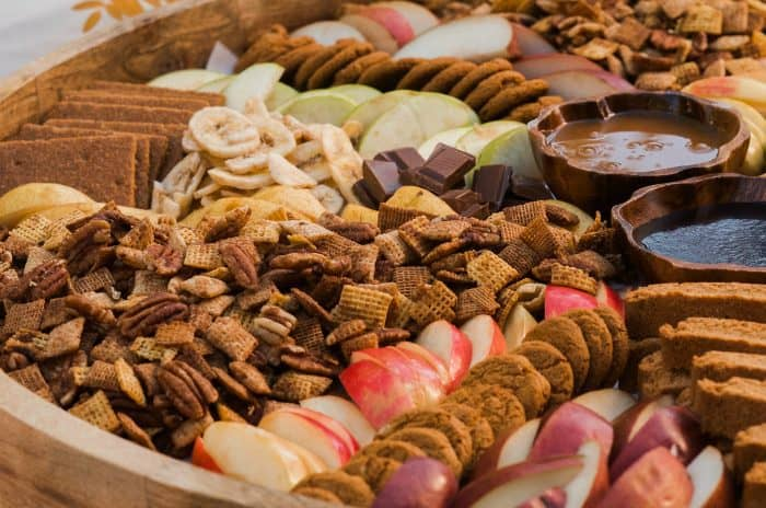 BEST Pumpkin Spice Chex Party Mix Board