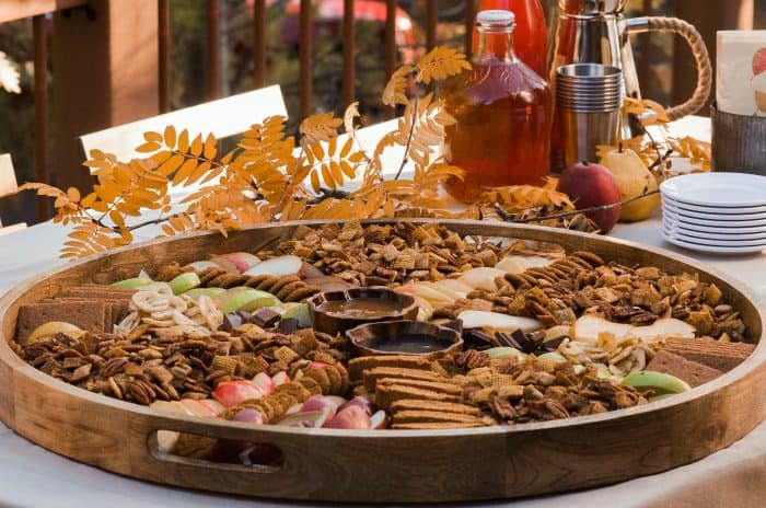 EASY Pumpkin Spice Chex Party Mix Board recipe