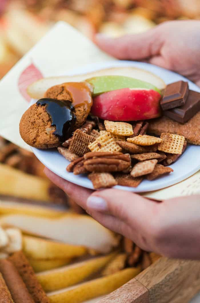 BEST Pumpkin Spice Chex Party Mix Board recipe