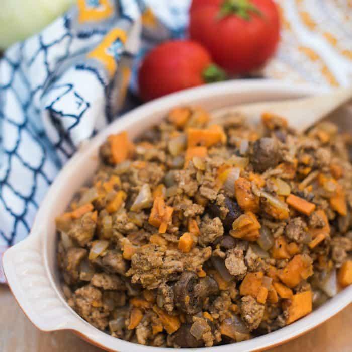 Sweet Potato Mushroom Ground Turkey