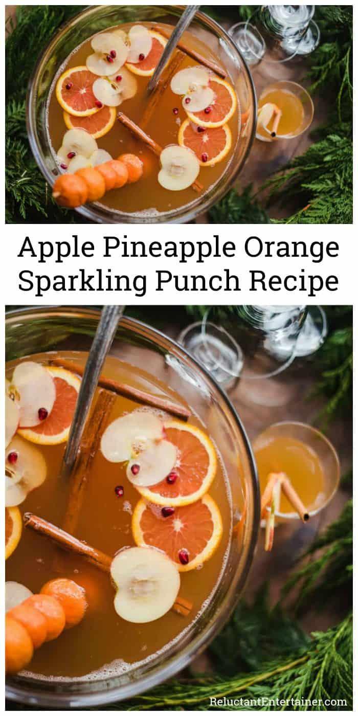 Apple Pineapple Orange Sparkling Punch