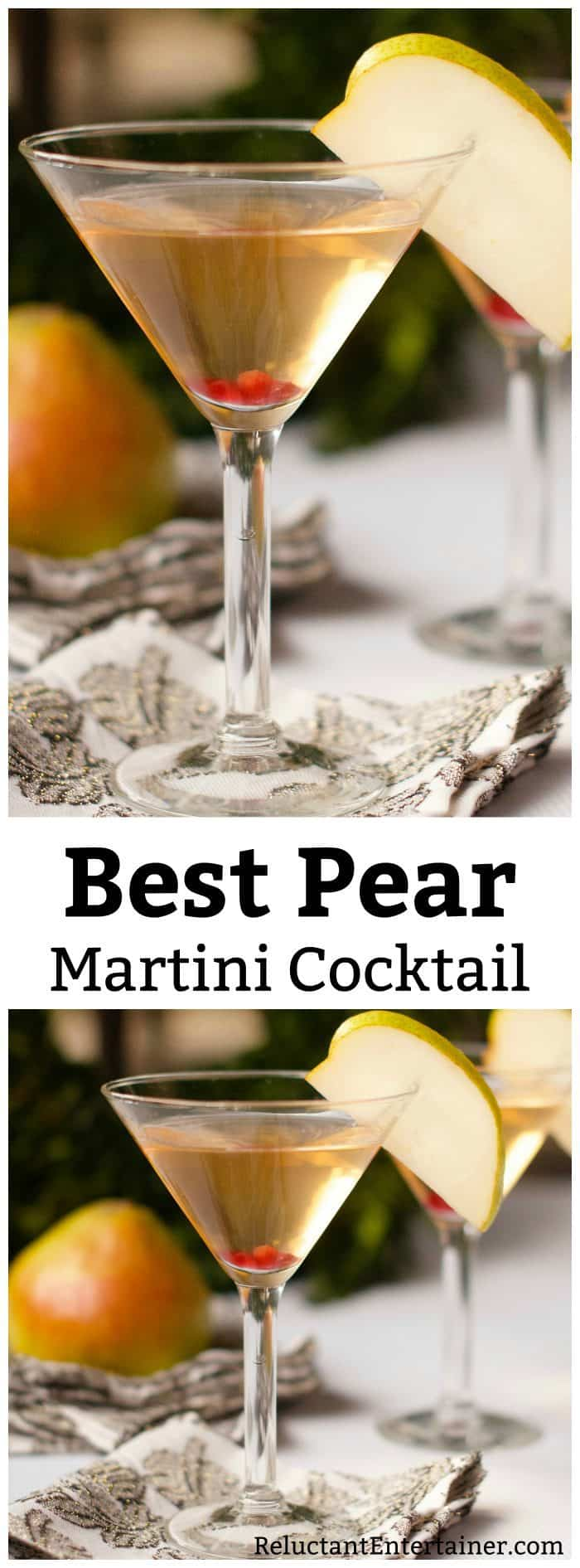 Best Pear Martini Cocktail Recipe