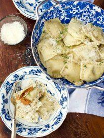 Fig Sweet Potato Raviolis Recipe