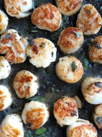 Herbed Brown Butter Scallops