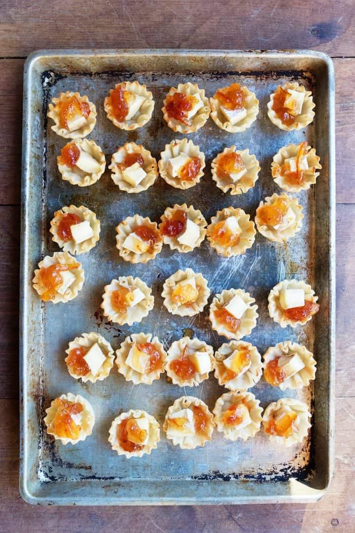 how to make Marmalade Pistachio Brie Mini Tartlets