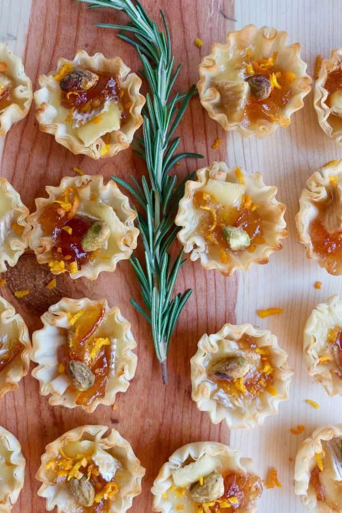holiday Marmalade Pistachio Brie Mini Tartlets