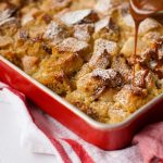Pear Bread Pudding with Caramel Sauce Recipe