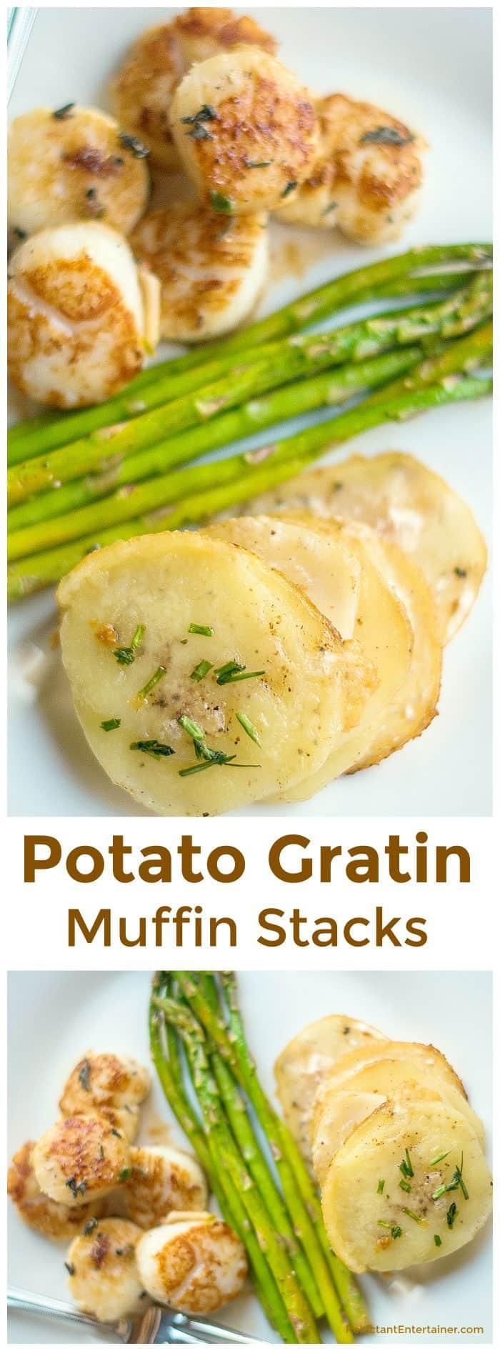 Potato Gratin Muffin Stacks Recipe