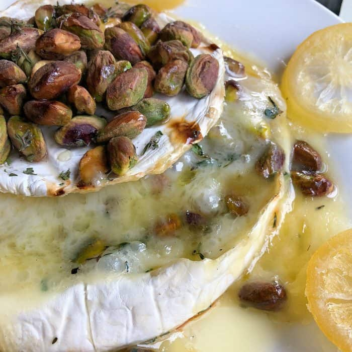 Baked Lemon Pistachio Brie Recipe