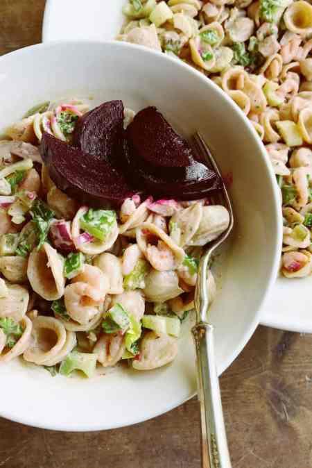 Classic Bay Shrimp Pasta Salad Recipe