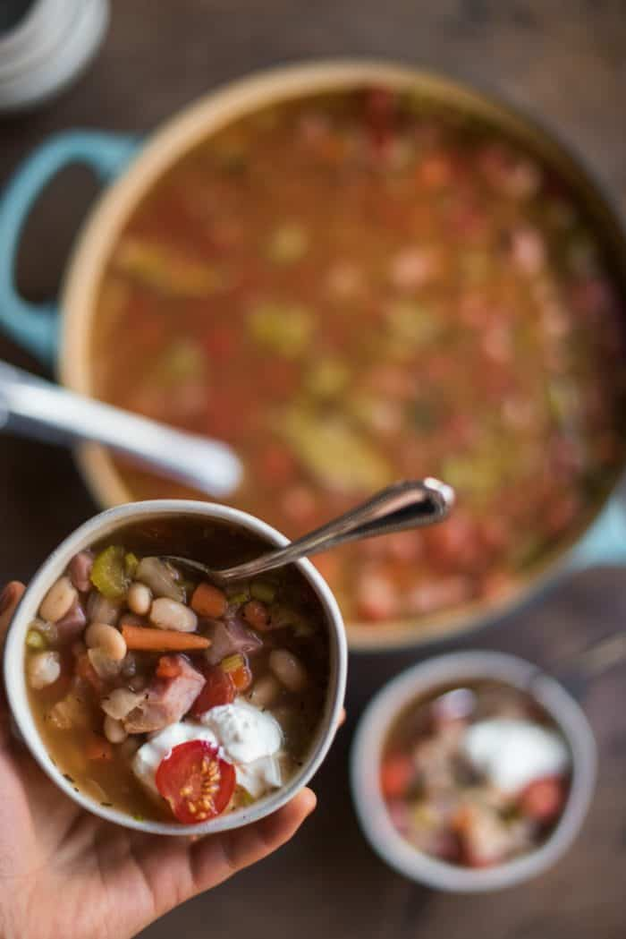 TASTY Great Northern Bean Ham Soup Recipe