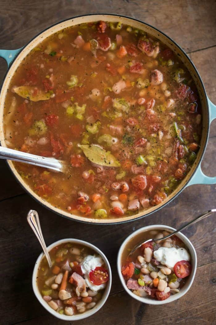 EASY Great Northern Bean Ham Soup Recipe