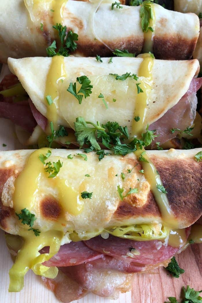 TASTY Rolled Flatbread Cubano Sandwich Recipe