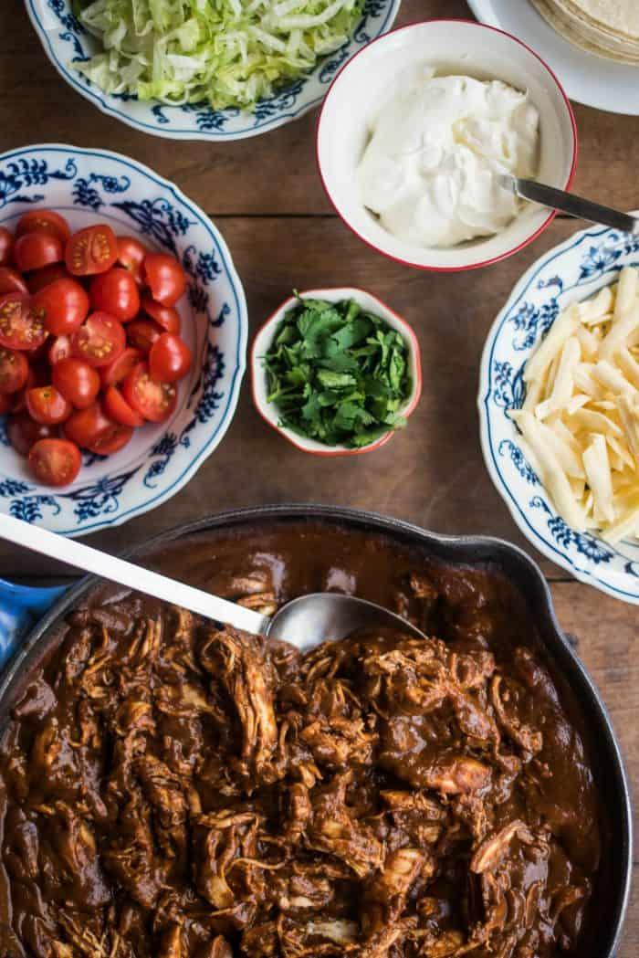 Rotisserie Chicken Mole Tacos Recipe