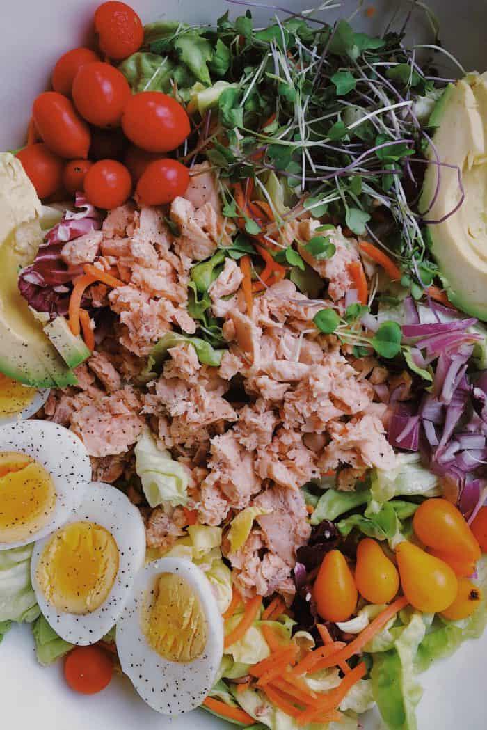 Skinny Pink Salmon Green Salad Recipe