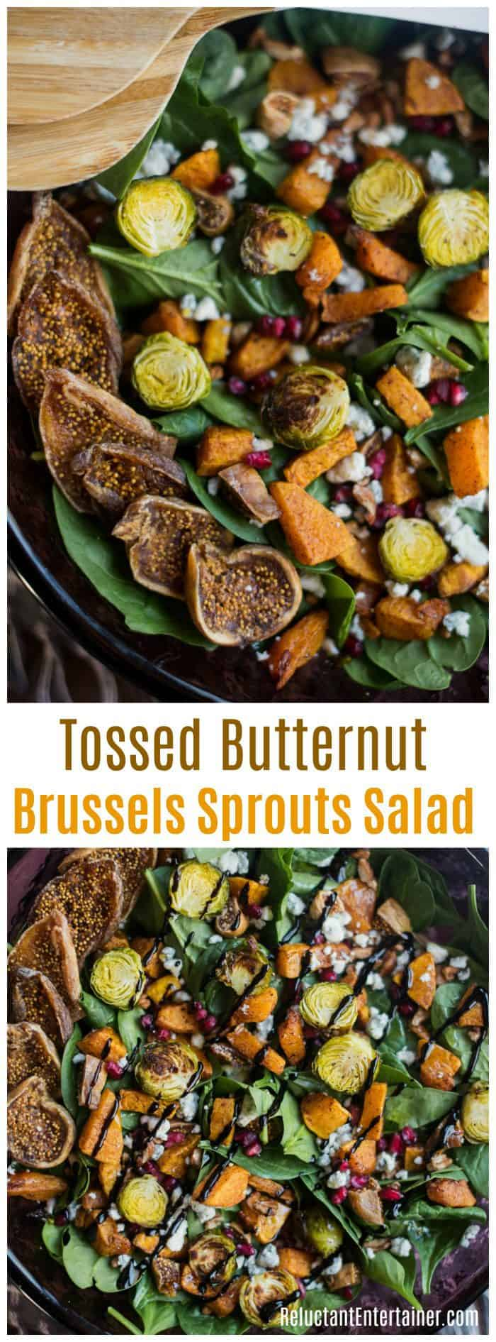 Tossed Butternut Brussels Sprouts Salad